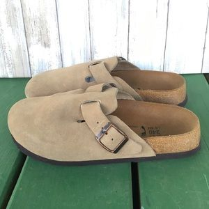 Betula by Birkenstock Boston Clogs Taupe Suede